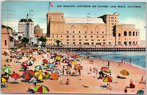 Beach and Auditorium Long Beach California