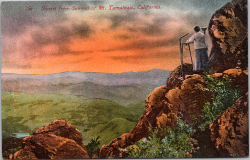 Sunset from Summit of Mt. Tamalpais, California