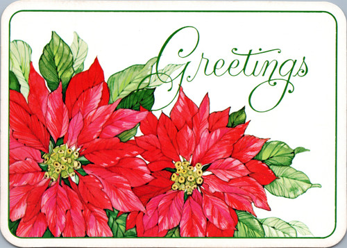Greetings with Poinsettias