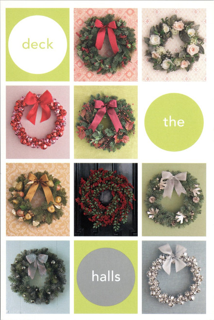 Kmart Martha Stewart 2002 Deck The Halls postcard