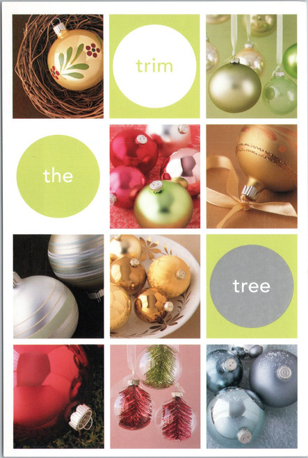 Kmart Martha Stewart 2002 Trim the Tree postcard
