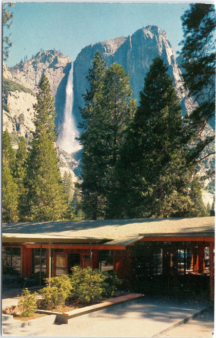 Yosemite Lodge with Falls in background