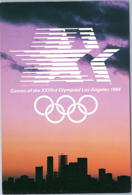 1984 23rd Olympics Los Angeles Skyline sunset