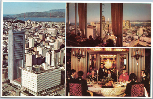 San Francisco Hilton multi view postcard