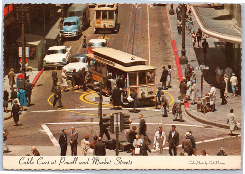 Cable cars at Powell and Market Streets