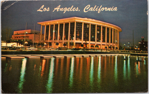 LA Music Center night view