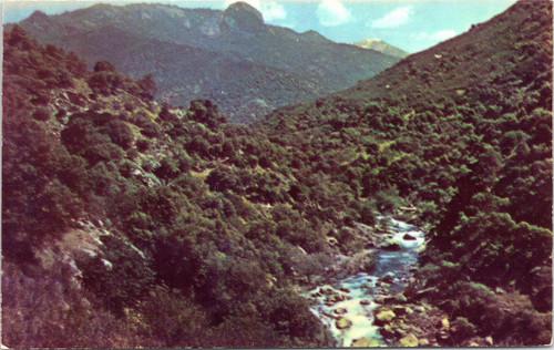 Keweah River and Morro Rock at  Sequoia National Park
