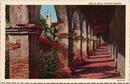 Mission San Juan Capistrano - East or Serra Church Corridor