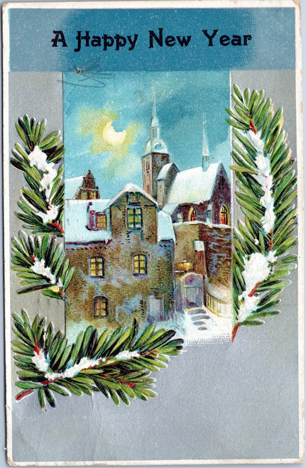 A Happy New Year postcard 1903