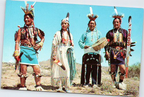 Native Americans in full dress