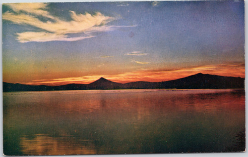 Sunset on Klamath Lake
