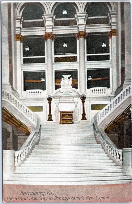 Grand Stairway staircase in Pennsylvania Capitol