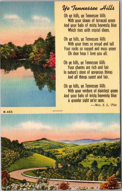 Ye Tennessee Hills by Mrs S L Pitt