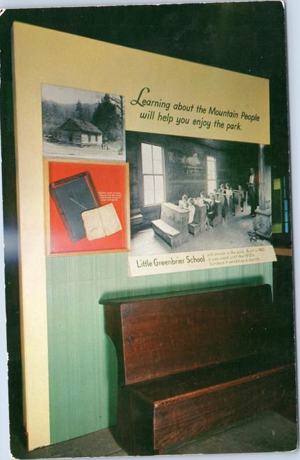 Pioneer Museum exhibit of Little Greenbrier School