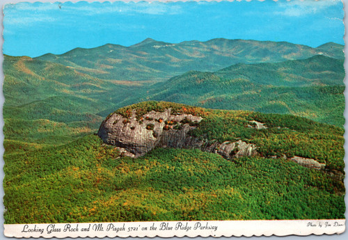 Looking Glass Rock and Mt. Pisgah on Blue Ridge Parkway