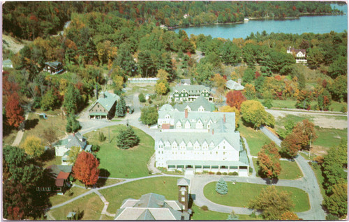 Air View Silver Bay Association campus on Lake George