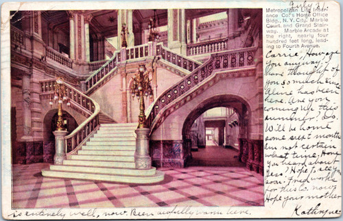 Metropolitan Life Ins Co Home Office Building Marble Court and Grand Stairway