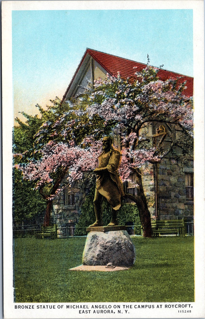 Michael Angelo Bronza Statue on the campus at Roycroft