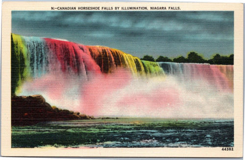 Canadian Horseshoe Falls by Illumination