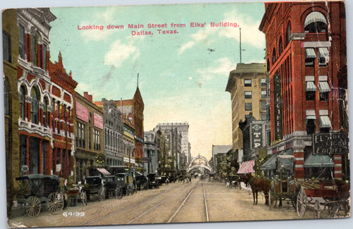 Main Street from Elks Building, Dallas Texas