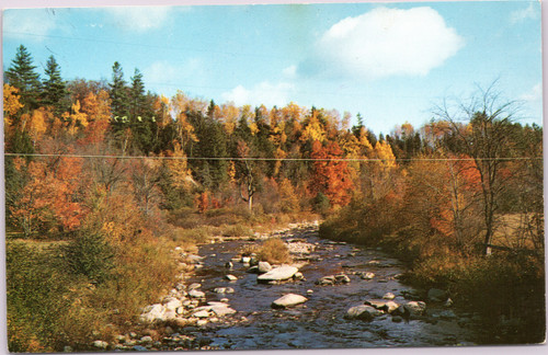 Fall Foliage and River in Vermont