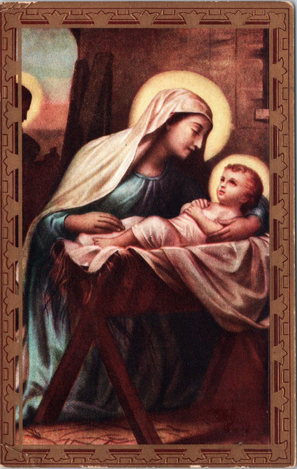 Mary with Baby Jesus in manger