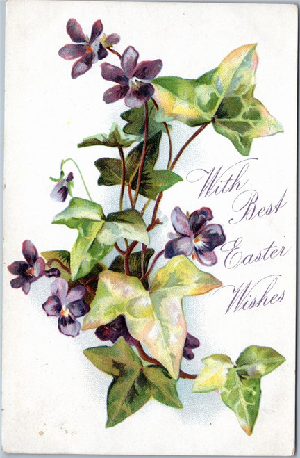Raphael Tuck Floral Easter Greetings No. 129