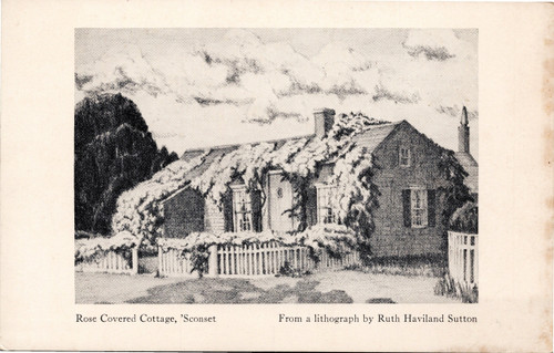Rose Covered Cottage from Ruth Haviland Sutton lithograph