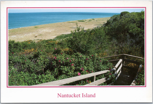 Nantucket Island stairs to beach