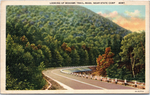 Looking up Mohawk Trail, near state camp