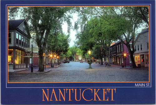 Nantucket Main Street at night
