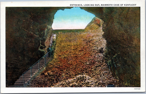 Mammoth Cave - Entrance, Looking out