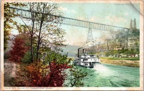 Streamboat passing High Bridge