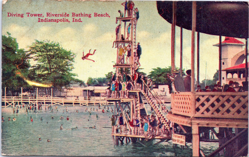 Riverside Bathing Beach Diving Tower