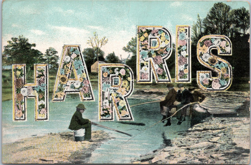 Postcard name with Harris