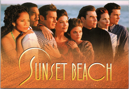 Sunset Beach tv series postcard