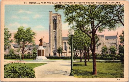 Memorial Park and Calvary Methodist Episcopal Church