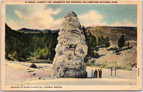 Liberty Cap at Mammoth Hot Springs