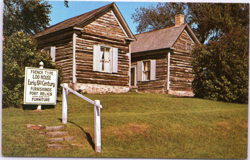 Historical Surgeons' Quarters log house Fort Winnebago