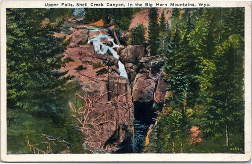 Upper Falls, Shell Creek Canyon, in the Big Horn Mountains