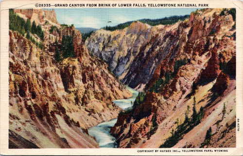 Grand Canyon from Brink of Lower Falls,
