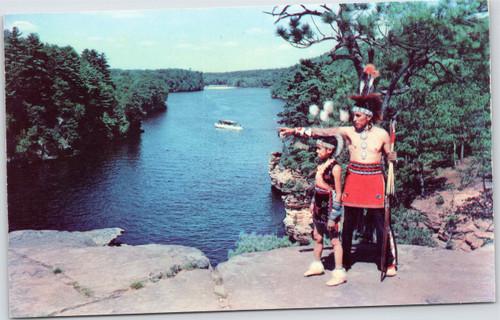 Wisconsin Dells - Native American boy/man on High Rock