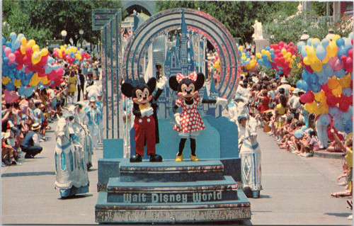 Mickey and Minnie leading the Tencennial parade