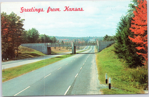 Greetings from Kansas highway