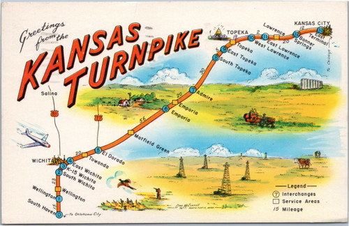 Kansas turnpike postcard