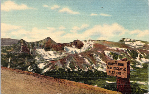 Highest Point Trail Ridge Road