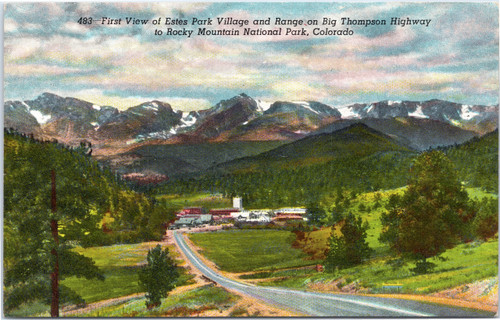 First View of Estes Park Village