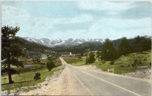 Continental Divide from Road to Estes Park CO