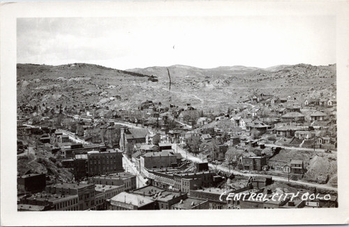 Central City aerial / bird's eye - Kodak RPPC