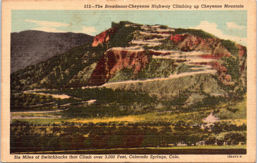 Switchbacks of Broadmoor-Cheyenne Highway